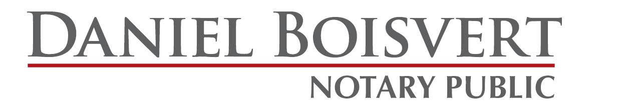 Daniel boisvert notary public